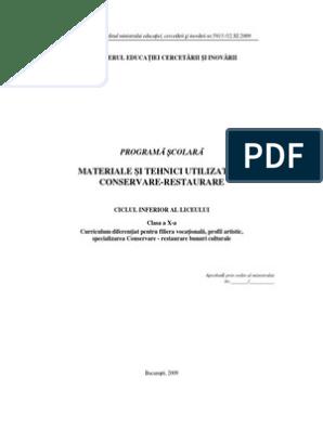 Tehnica de restaurare comună, Anunțuri - licitații pentru atribuirea lucrărilor de pictură ()