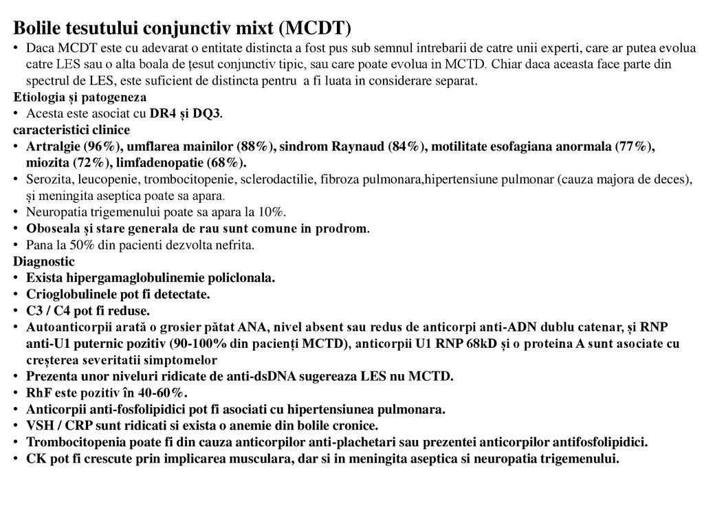 prognostic mixt al bolii țesutului conjunctiv