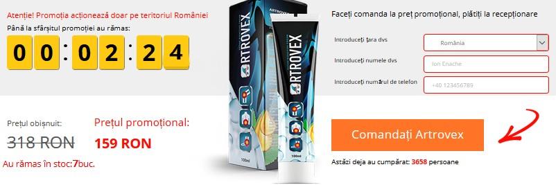 Artrovex Pret, forum si disponibilitatea in farmaciile Catena sau Tei